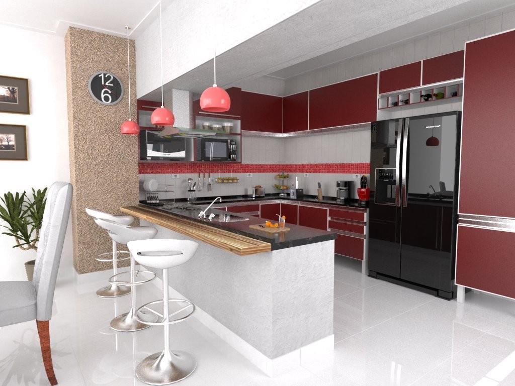 Cozinhas americanas: ideias e inspirações. Amagai Imóveis #943738 1024 768